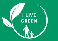 I LIVE GREEN competition logo