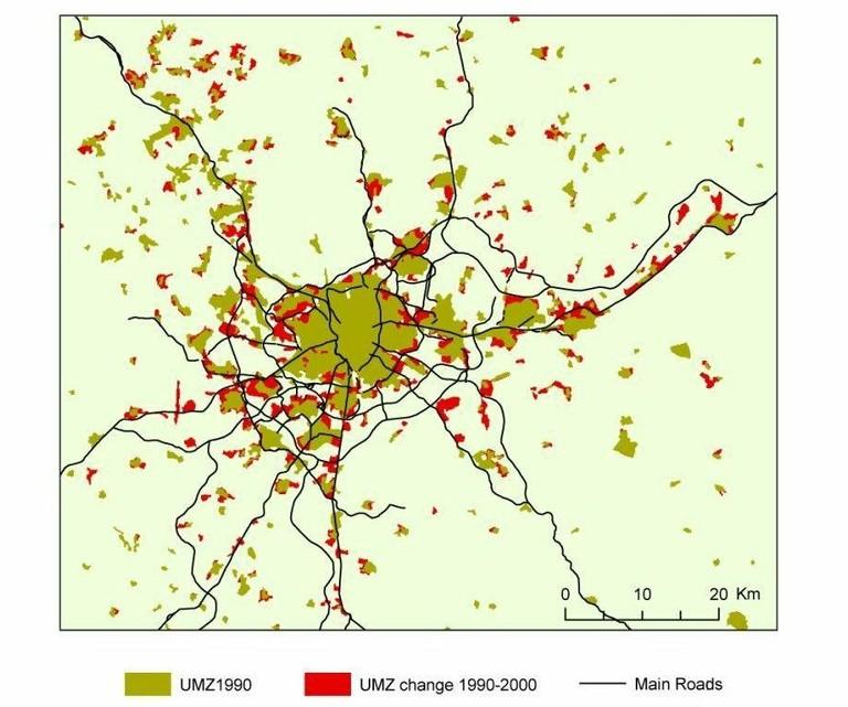 Analysing And Managing Urban Growth European Environment Agency - Urban grown us map