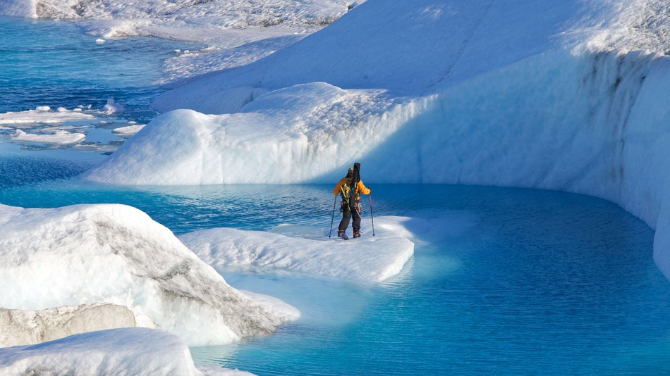 Melting glaciers Greenland