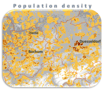 Germany population distribution