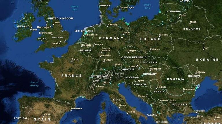 Karta Europa Pa Svenska.Wetlands And Waterbodies In Europe European Environment Agency