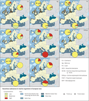 Hazardous substances in marine organisms in European seas