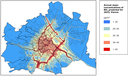 Annual mean concentrations of NO2 predicted for 2015, Vienna