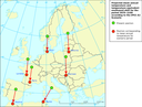 Apparent southward shift of European cities — due to climate change, 2070-2100