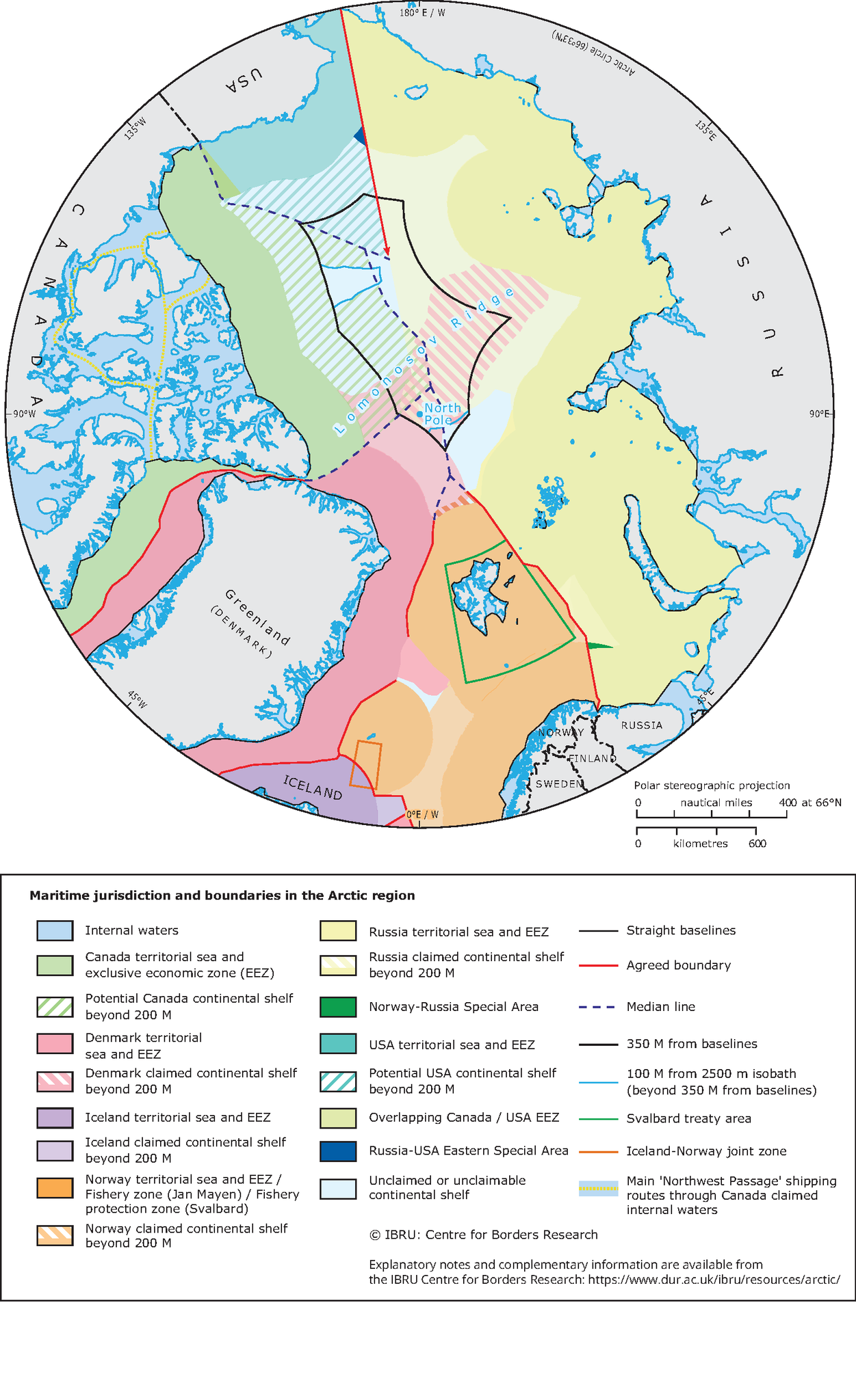 arctic territorial claims map Arctic Continental Shelf Claims European Environment Agency arctic territorial claims map