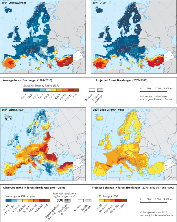 Current And Projected State And Trend Of Fire Danger European