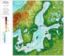 Baltic Sea physiography (depth distribution and main currents)