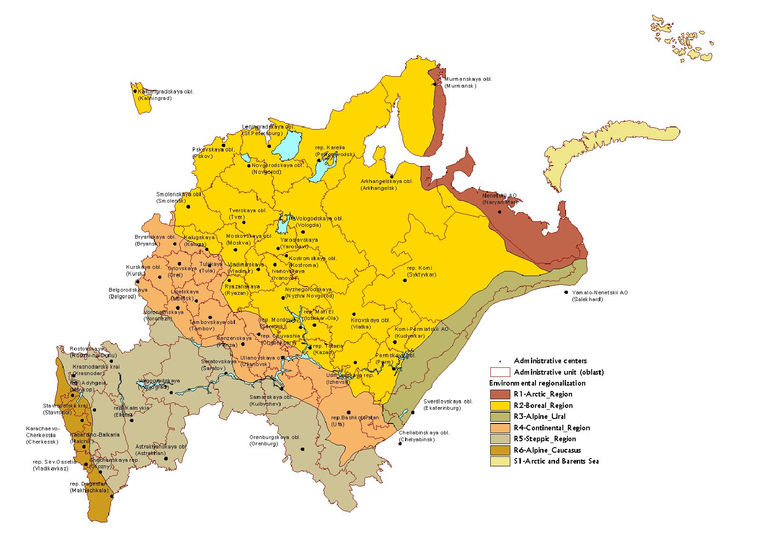 Biogeographic regions of the Russian federation — European ...