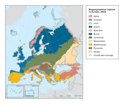 Biogeographical regions in Europe
