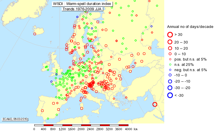 Global And European Temperature European Environment Agency - Average temp map us