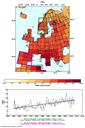 Trends in warm days across Europe