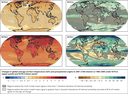 Projected changes in global average surface temperature and precipitation