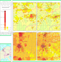 Comparison of population distribution by administrative unit and by land cover unit