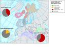 Conservation status of marine turtles per biogeographic region