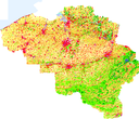 Corine land cover 2000 by country
