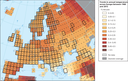 Trends in annual temperature across Europe between 1960 and 2015