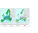 Distribution of FARO-EU rural classes across Europe and massifs
