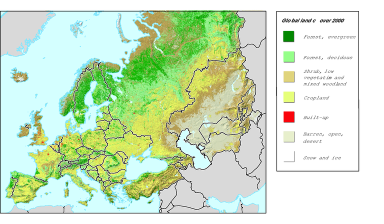 Resources Map Of Europe.Distribution Of Natural Resources In The Pan European Region For