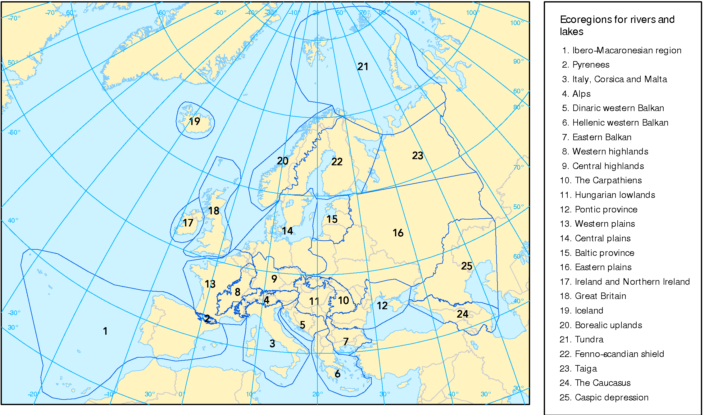 Image of: Ecoregions For Rivers And Lakes European Environment Agency