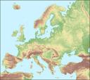 Ireland Elevation Map.Elevation Map Of Europe European Environment Agency