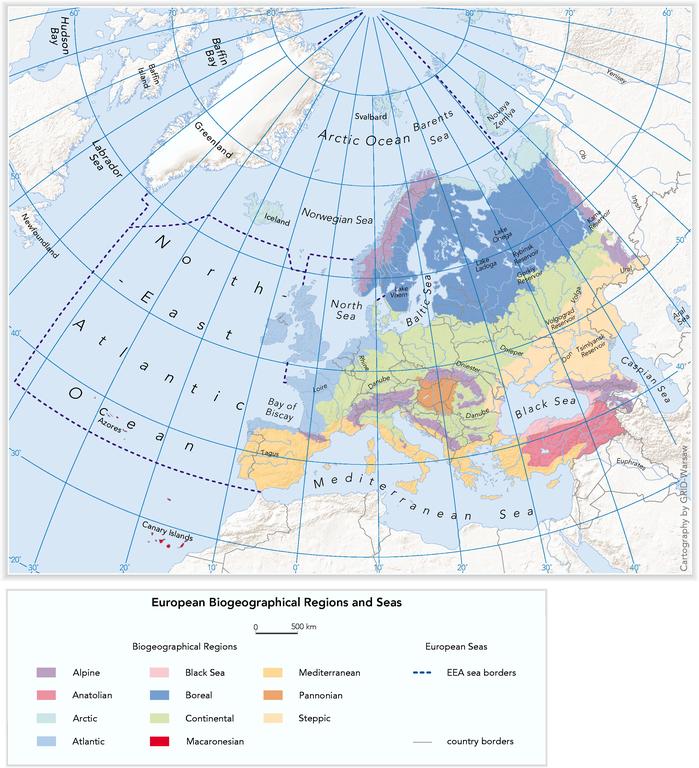 European biogeographical regions and the regional seas — European ...