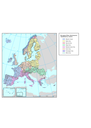 European river catchments - geographic view