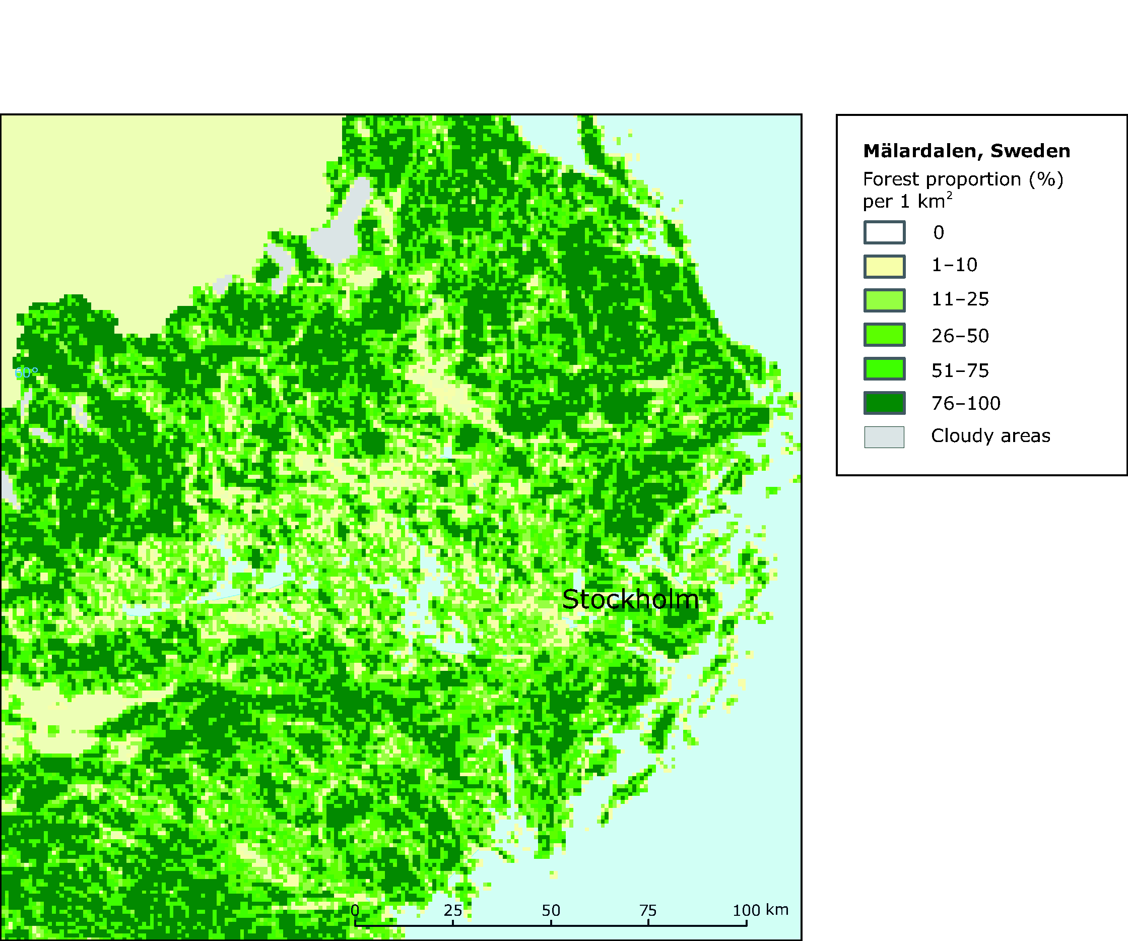 European Environment Agencys Home Page European Environment Agency - Sweden forest map