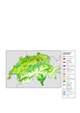 Geographic view of Corine land cover (CLC90) Switzerland