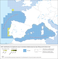 HEAT+ classifications of 'eutrophication status' in the Western Mediterranean Sea, Bay of Biscay and the Iberian Coast