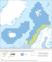 HEAT+ classifications of 'eutrophication status' in the Norwegian Sea and the Barents Sea