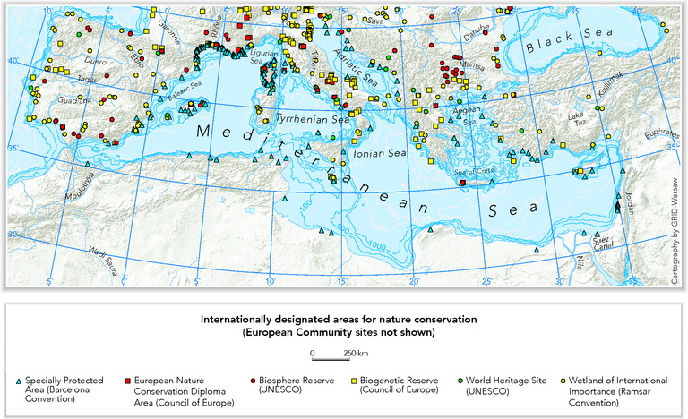 International nature protection areas in the Mediterranean ...