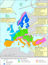 Key past and projected impacts and effects on sectors for the main biogeographic regions of Europe
