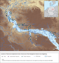 Locations of Planned and Implemented Green Infrastructure Flood Management Measures near Magdeburg, Germany