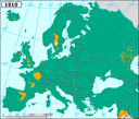 Loss of accessibility for migratory fish due to dams in major European river basins - 1910 - eps file