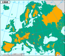 Loss of accessibility for migratory fish due to dams in major European river basins - 1960 - eps file
