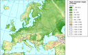 Major mountain ranges of Europe