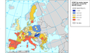 ECWP (in € PPS/m3) for maize (green and grain) across EU NUTS2 areas