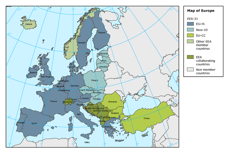 Map of Europe — European Environment Agency