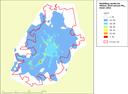 Modelling results for Vilnius: 2010 annual PM10 mean value