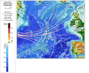 North-east Atlantic Ocean physiography (depth distribution and main currents)