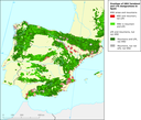 Overlaps of High Nature Value (HNV) farmland and LFA designations in Spain and Portugal
