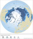 Permafrost in the Northern hemisphere
