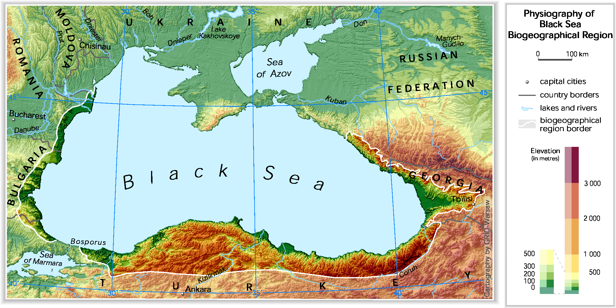 European environment agencys home page european environment agency located in data and maps physiography of black sea biographical region bla1physicaleps gumiabroncs Image collections