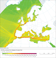 PM2.5 emissions from shipping in European Seas