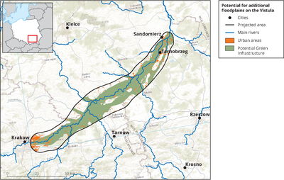 Potential for additional floodplains on the Vistula