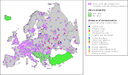 Probable problem areas of local contamination in Europe