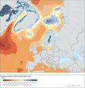 Projected change in relative sea level, 2081–2100