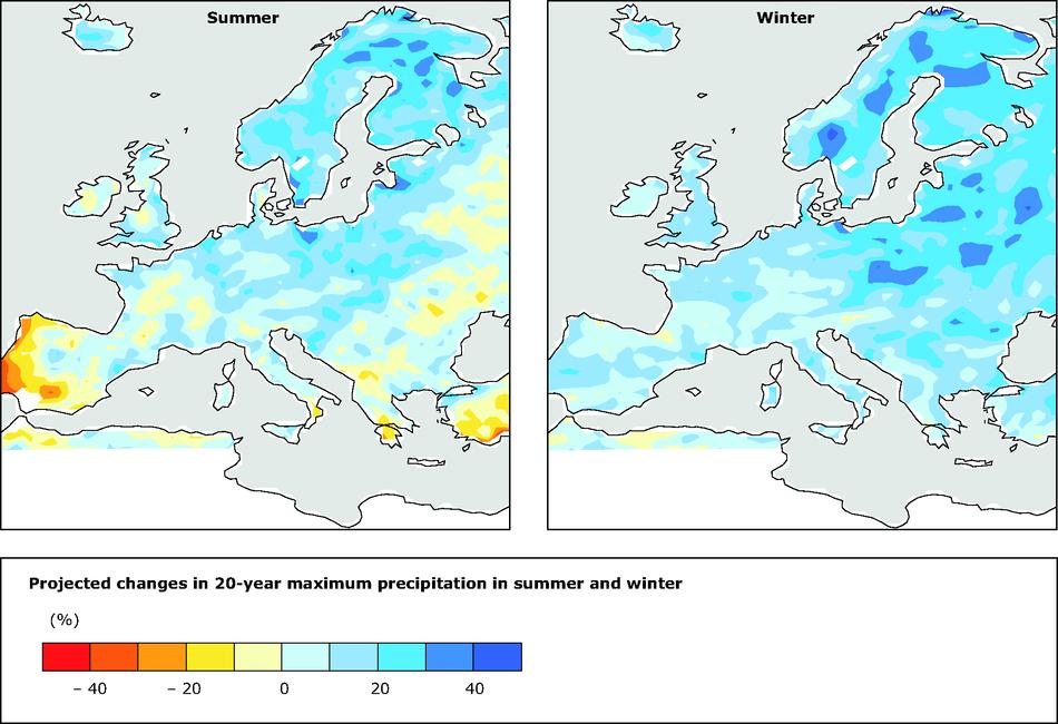 Rainfall Map Europe.Precipitation Extremes European Environment Agency