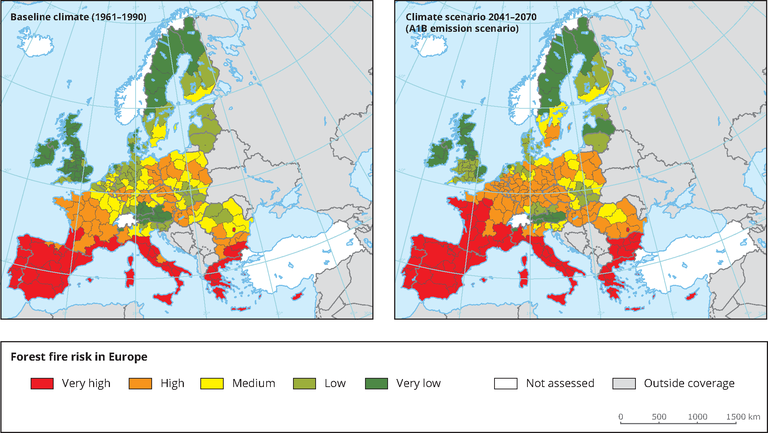Projected Forest Fire Risk In Europe European Environment Agency