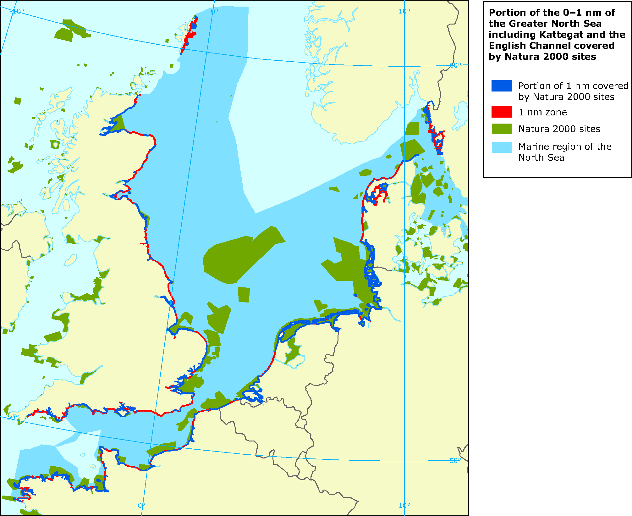 Proportion of coastal waters (0 to 1 nm from the coast) of ... on map of europe, map of normandy, map of caspian sea, map of strait of hormuz, map of gulf of bothnia, map of arctic ocean, map of england, map of celtic sea, map of wales, map of river thames, map of baltic sea, map of black sea, map of germany, map of moscow, map of rome, map of north sea, map of ural mountains, map of adriatic sea, map of bay of biscay, map of danube river,